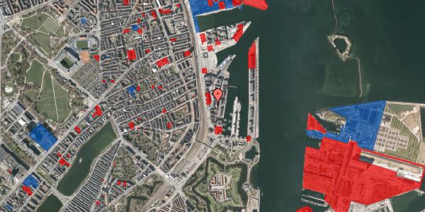 Jordforureningskort på Amerika Plads 4, 6. 1, 2100 København Ø
