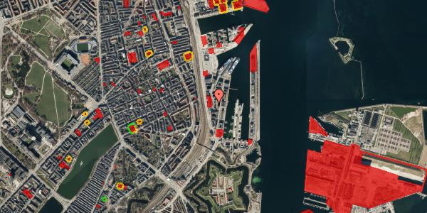 Jordforureningskort på Amerika Plads 6, 4. th, 2100 København Ø