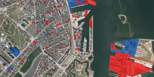 Jordforureningskort på Amerika Plads 10, 3. th, 2100 København Ø