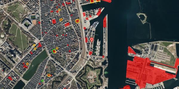 Jordforureningskort på Amerika Plads 3A, kl. 6, 2100 København Ø