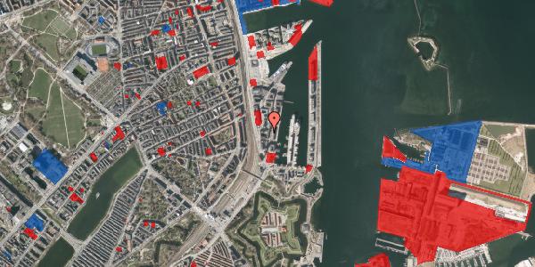 Jordforureningskort på Amerika Plads 3B, 6. tv, 2100 København Ø