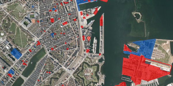Jordforureningskort på Amerika Plads 3B, 5. tv, 2100 København Ø