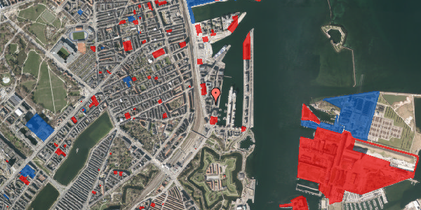 Jordforureningskort på Amerika Plads 3D, 4. tv, 2100 København Ø