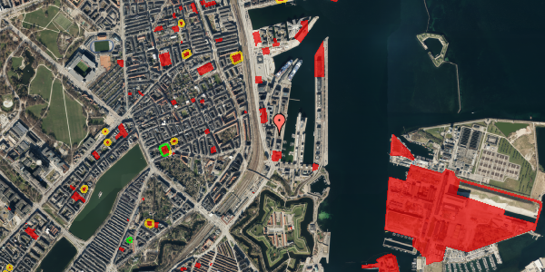 Jordforureningskort på Amerika Plads 3D, 3. mf, 2100 København Ø