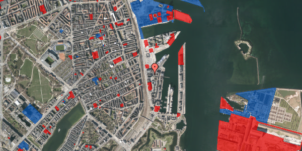 Jordforureningskort på Amerika Plads 25C, 1. tv, 2100 København Ø