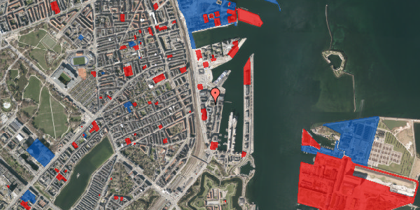 Jordforureningskort på Amerika Plads 26B, 4. 3, 2100 København Ø