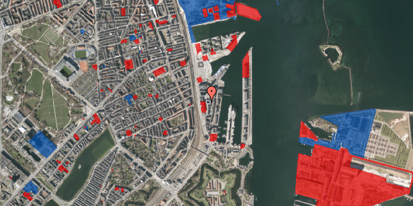 Jordforureningskort på Amerika Plads 16, 6. th, 2100 København Ø