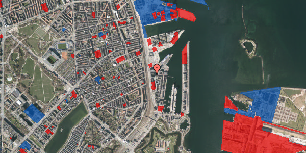 Jordforureningskort på Amerika Plads 23, 4. mf, 2100 København Ø