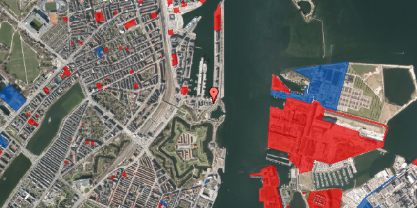 Jordforureningskort på Indiakaj 18, 1. th, 2100 København Ø