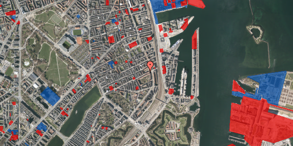 Jordforureningskort på Classensgade 63, 6. th, 2100 København Ø