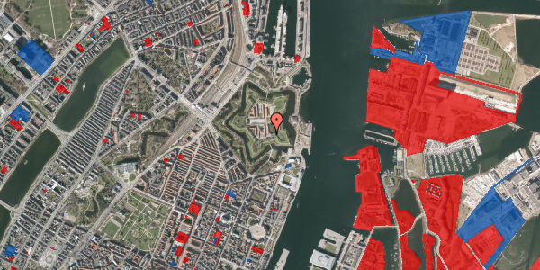 Jordforureningskort på Kastellet 1, 2100 København Ø