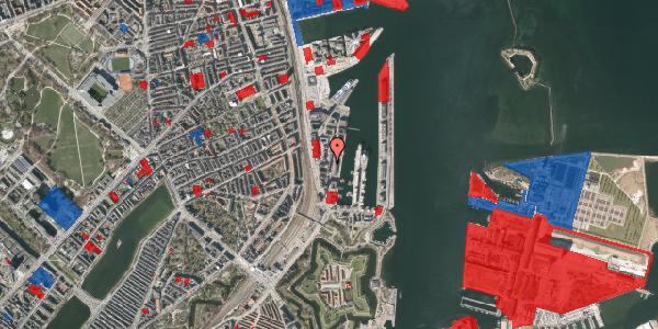 Jordforureningskort på Amerika Plads 1, 8. , 2100 København Ø