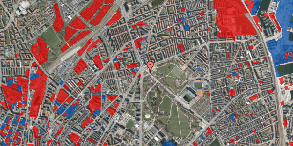 Jordforureningskort på Øster Allé 62, 2100 København Ø