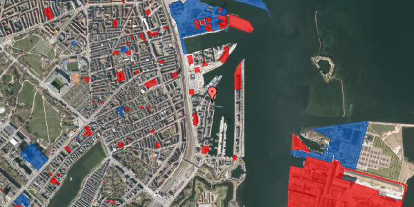 Jordforureningskort på Amerika Plads 36, 6. th, 2100 København Ø
