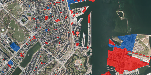 Jordforureningskort på Amerika Plads 3E, 9. , 2100 København Ø