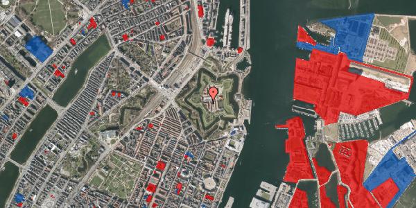 Jordforureningskort på Kastellet 44, 2100 København Ø
