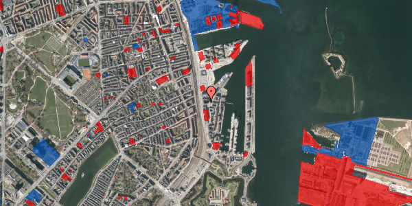 Jordforureningskort på Amerika Plads 23, 2. mf, 2100 København Ø