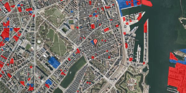 Jordforureningskort på Rosenvængets Allé 20D, 4. , 2100 København Ø