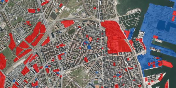 Jordforureningskort på Nygårdsvej 25, 1. th, 2100 København Ø