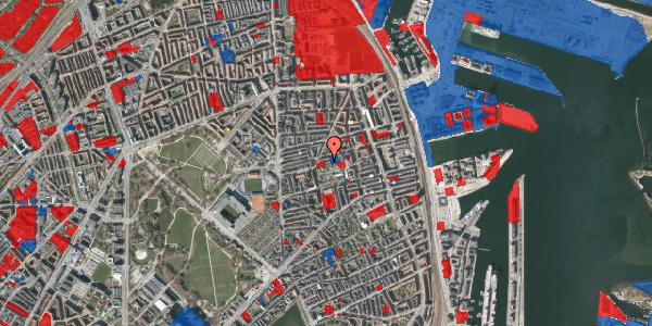 Jordforureningskort på Viborggade 50, st. tv, 2100 København Ø