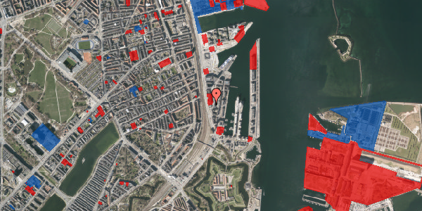 Jordforureningskort på Amerika Plads 11, 1. , 2100 København Ø
