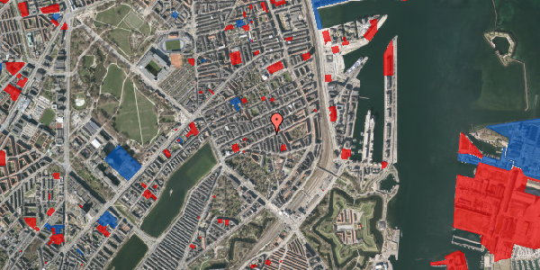 Jordforureningskort på Classensgade 35B, 2100 København Ø