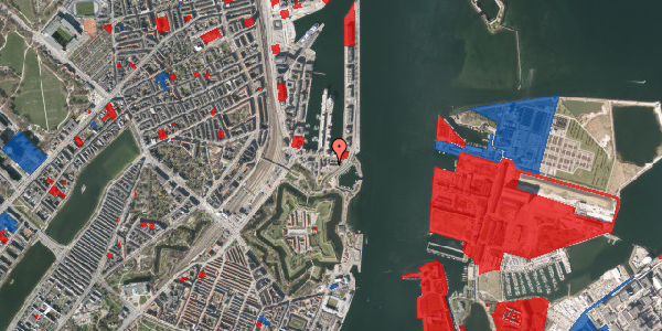 Jordforureningskort på Indiakaj 14B, 1. th, 2100 København Ø