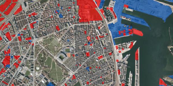 Jordforureningskort på Viborggade 42, 1. tv, 2100 København Ø