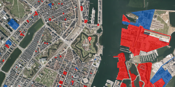Jordforureningskort på Kastellet 82, 2100 København Ø
