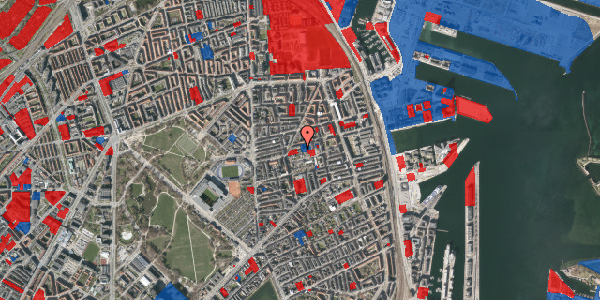 Jordforureningskort på Viborggade 48, st. th, 2100 København Ø