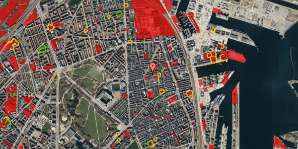 Jordforureningskort på Viborggade 44, 3. tv, 2100 København Ø