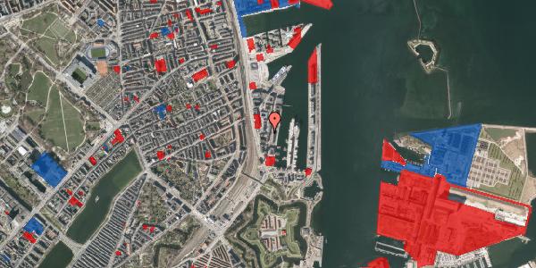 Jordforureningskort på Amerika Plads 1, 4. , 2100 København Ø