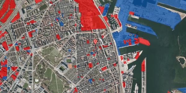 Jordforureningskort på Århus Plads 1, 2100 København Ø