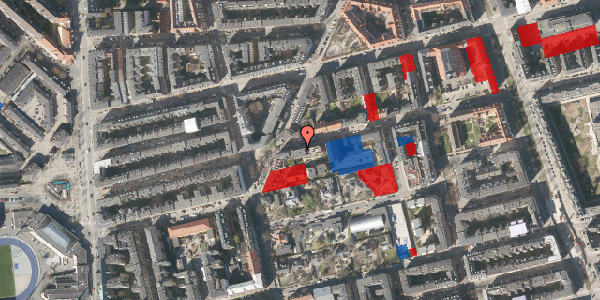 Jordforureningskort på Viborggade 42, 3. th, 2100 København Ø