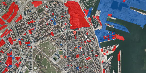Jordforureningskort på Vordingborggade 20, 4. , 2100 København Ø