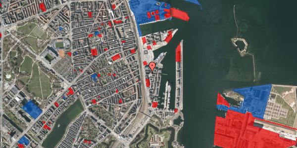 Jordforureningskort på Amerika Plads 21B, 2100 København Ø