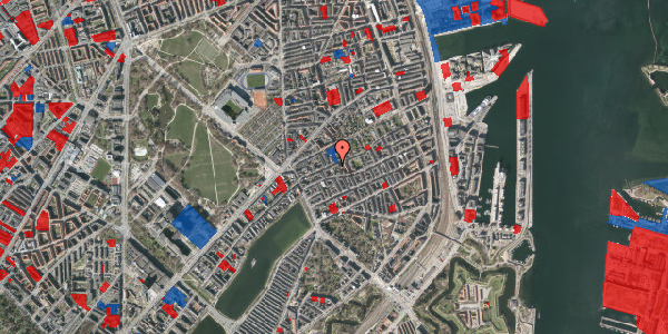 Jordforureningskort på Rosenvængets Allé 20A, 3. tv, 2100 København Ø