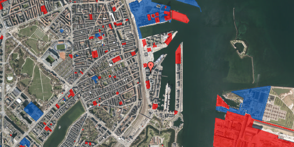 Jordforureningskort på Amerika Plads 25E, 3. tv, 2100 København Ø