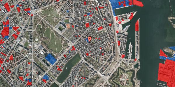 Jordforureningskort på Rosenvængets Allé 20A, 3. th, 2100 København Ø