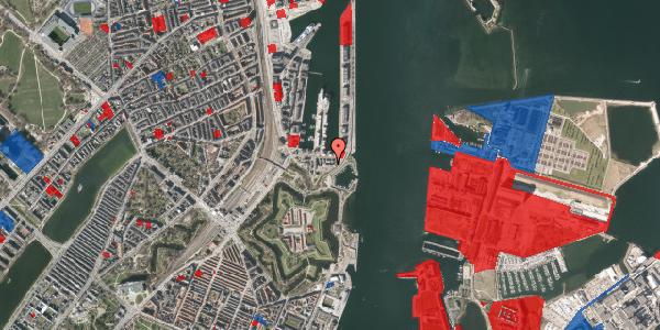 Jordforureningskort på Indiakaj 14C, 1. th, 2100 København Ø