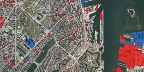 Jordforureningskort på Classensgade 50A, 2100 København Ø