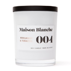 Maison Blanche 004 Bergamot & Tobacco - Best Scented Candles: Sweet and fruity