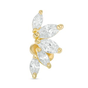 Pagoda Flower Cartilage Barbell - Best Jewelry for Tragus Piercing: Pierce it anywhere