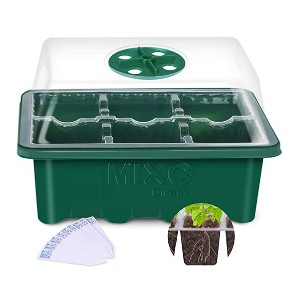 MIXC Direct 10 Set Seedling Trays Seed Starter Kit, MIXC 60 Large Cells  - Best Self-Watering Seed Starter: Innovative humidity window