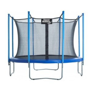 Upper Bounce 10ft Round Trampoline with Enclosure System - Best Trampoline Backyard: Child-safety certified