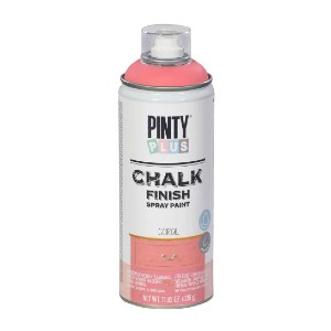 PINTY PLUS 11.82 oz. Coral Chalk Finish Spray Paint - Best Chalk Paint for Crafts: Quick Drying, Sandable within Minutes