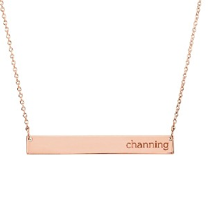 Tiny Tags 14K Gold Skinny Bar Necklace - Best Personalized Jewelry for Moms: Best high-end pick