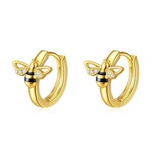 Yafeini Bee Huggie Earrings - Best Jewelry for Daith Piercing: Adorable and fashionable