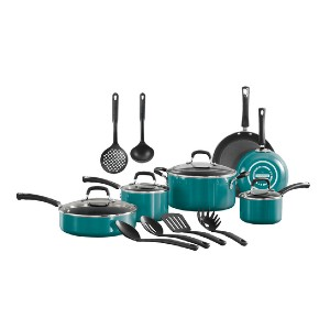 Tramontina Cookware Set in Teal - Best Porcelain Pots and Pans: Tackle any cooking task