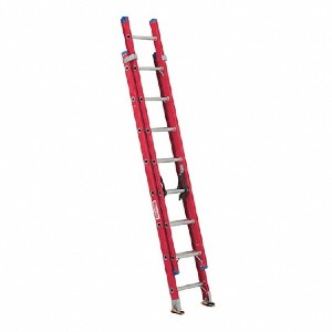 WESTWARD 16 ft Fiberglass Extension Ladder - 44YY67 - Best Extension Ladders for Home Use: Quicklatch Runglock System